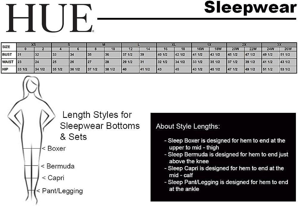 Details about  /HUE Women/'s Solid Flounce Sleeve Sleep Tee