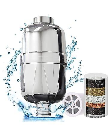 Filtro de agua de ducha universal de alta salida con 1 cartucho reemplazable que elimina el