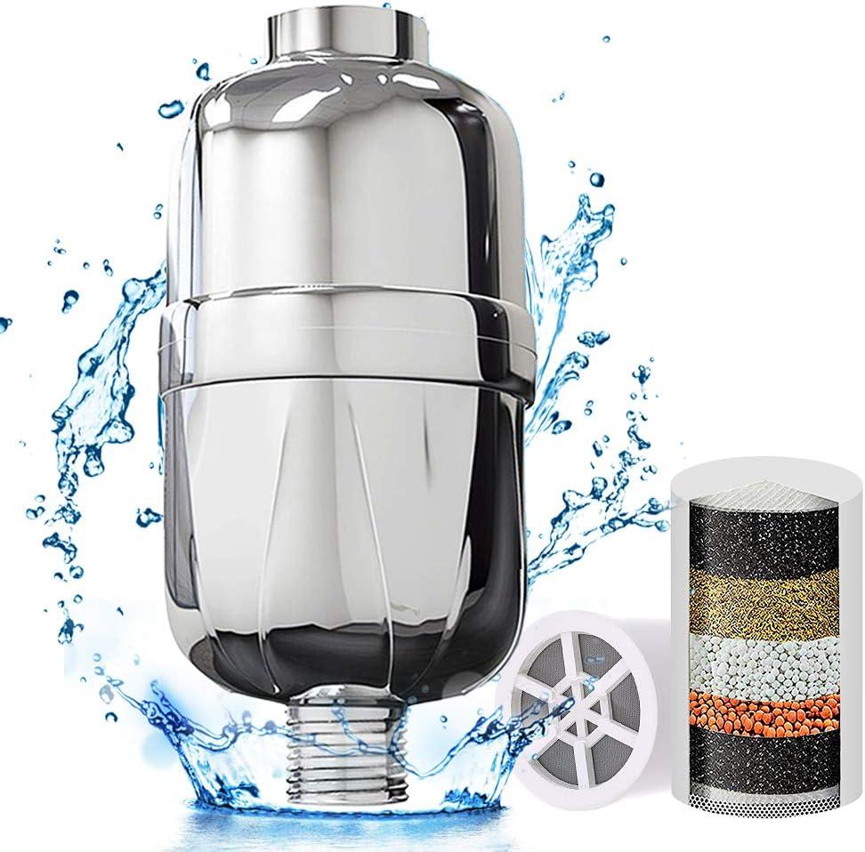 Filtro de agua de ducha universal de alta salida con 1 cartucho ...