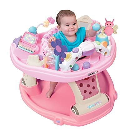 Kolcraft Baby Sit and Step 2-in-1 Activity Center in Flutter Love (