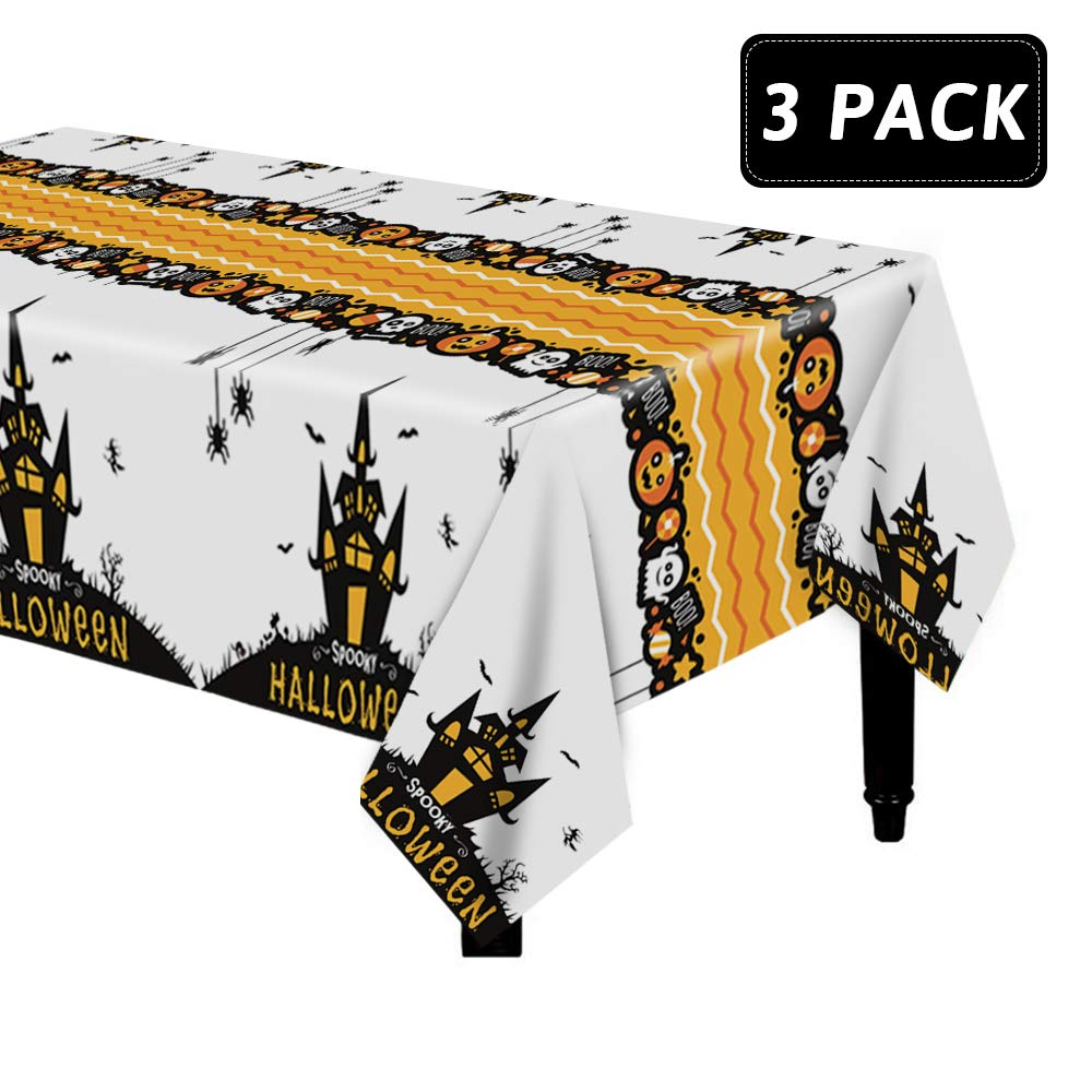 Dazonge Halloween Tablecloth/Table Covers for Party Decorations | 54''x110'' Rectangular | 3 Pack | Indoor/Outdoor Halloween Party Accessory by Dazonge