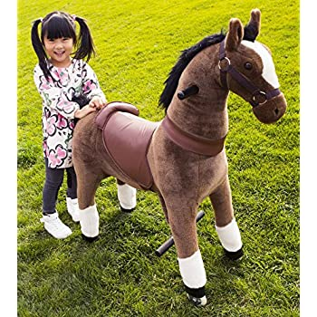 Mechanical Ride on Pony Simulated Horse Riding on Toy Ride-on Pony Cycle without Battery or Power: More Comfortable Riding with Gallop Motion for Kids 5-12 Years