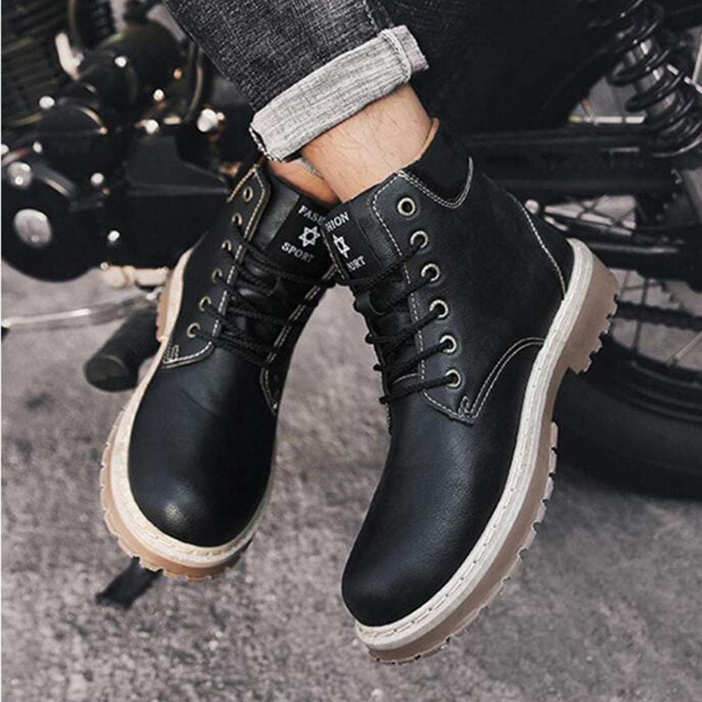 Amazon.com: FH Teenagers Wild Big Headwear Martin Boots High Boots Leather Boots Cowboy Boot: Shoes