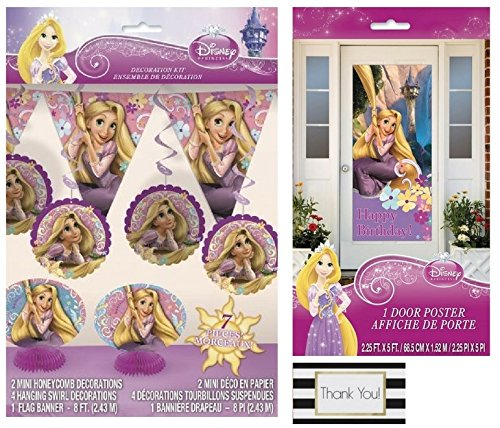 Disney Tangled 7 Pc Decoration Kit And 1 Door Poster 2 5 Ft X 5 Ft By Bt