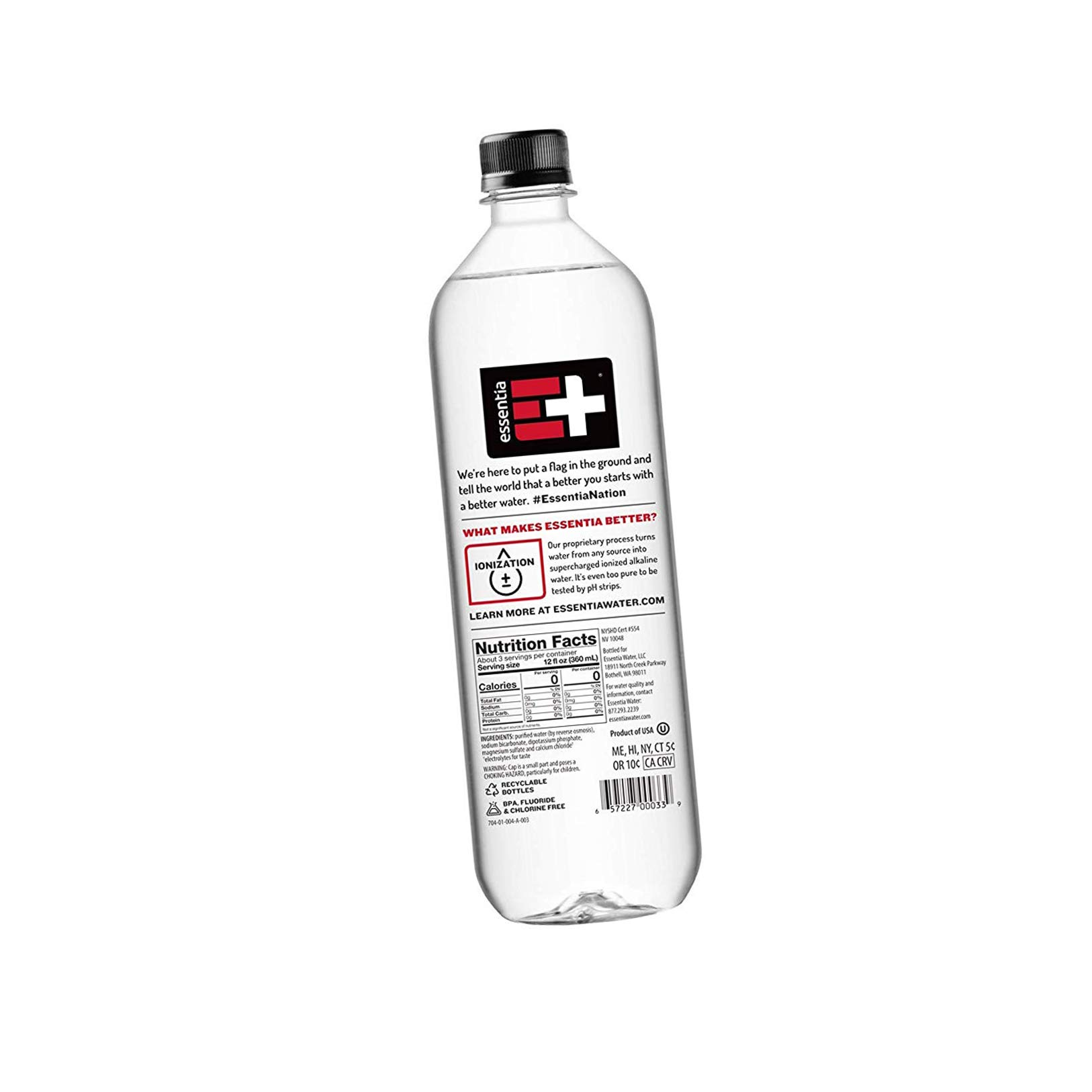 Essentia Water; 33.8-oz. Bottles; Case of 12; Ionized Alkaline Bottled Water; Electrolyte Infused for Smooth Taste; pH 9.5 or Higher by Essentia Water LLC (Image #3)