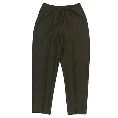 Alfred Dunner Petite Classics Elastic Waist Pants Black 8 Short at Women's Clothing store