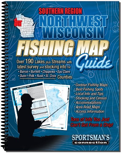 Wisconsin Fishing Maps - Northwest Wisconsin Fishing Map Guide: Southern Region