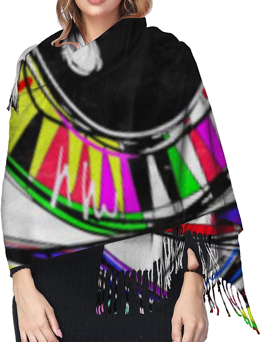Fashion Lady Shawls,Comfortable Warm Winter Scarfs Original Abstract Digital Painting Of Human Eye Colorful Composition Soft Cashmere Scarf For Women