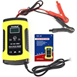 Mainstayae 12V 5A LCD Car Motorcycle Pulse Repair Battery Charger Lead Acid Storage Charger