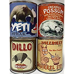 Gag Canned Meat Combo Pack IV: Creamed Possum, Yeti, Dillo and Squirrel Stew!