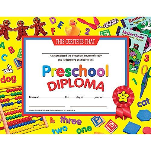 Preschool Diploma Certificate (Set of 30)]()