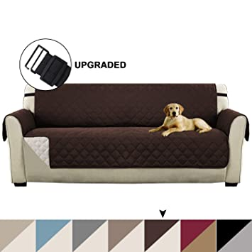 Reversible Furniture Protector for Extra Wide Sofas, Quilted Couch Covers Seat Width Up to 78