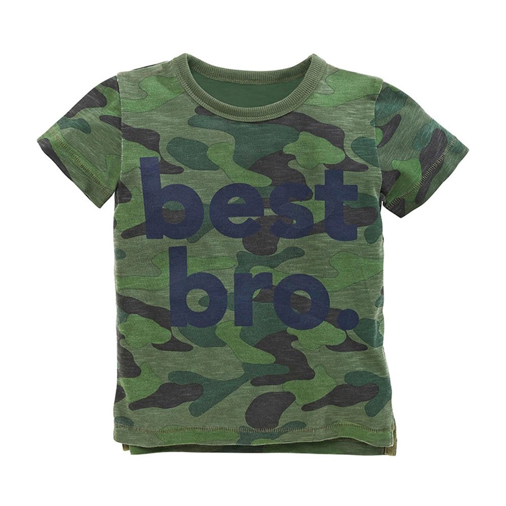 HUAER&& Little Boy's Summer Clothes Cotton Cute Car Print Pattern T-Shirts (2T, Camo)