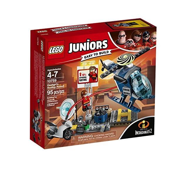 61kBvYKlWtL LEGO Juniors/4+ The Incredibles 2 Elastigirl's Rooftop Pursuit 10759 Building Kit (95 Piece)