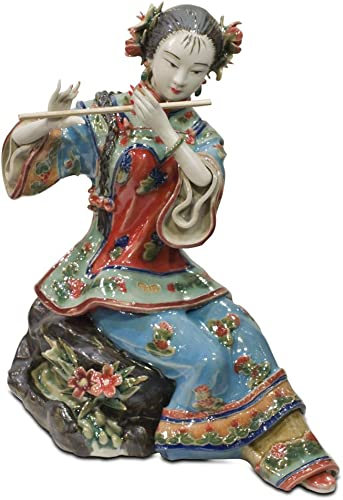Chinese Shi Wan Porcelain Doll – Playing Flute