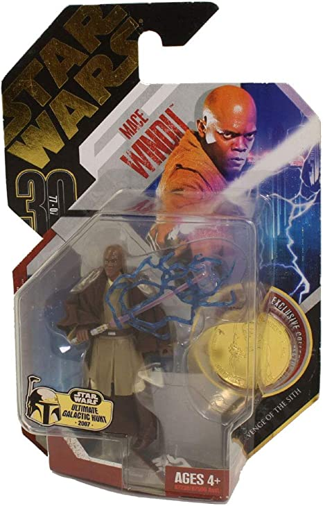 Hasbro Star Wars 30th Anniversary Revenge Of The Sith Mace Windu With Exclusive Collector Gold Coin 06 Action Toy Figures Amazon Canada