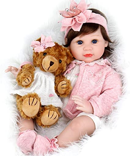 """Aori Reborn Baby Doll Designed with Acrylic 22/"""" Realistic Look Girl Doll"""