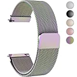 Fullmosa Gear S3 Bands, Milanese Loop 22mm Watch Band/Strap Quick Release Samsung Gear S3 Frontier/S3 Classic Watch Band/Strap Moto 360 2nd Gen 46mm, Colorful