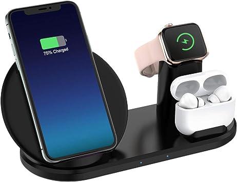 CARPURIDE Compatible with 3 en 1 Cargador Inalámbrico Apple Watch ...
