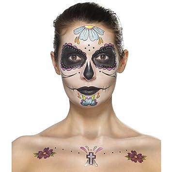 Dia De Los Muertos Schminkset Sugar Skull Makeup Set Mehrteilig