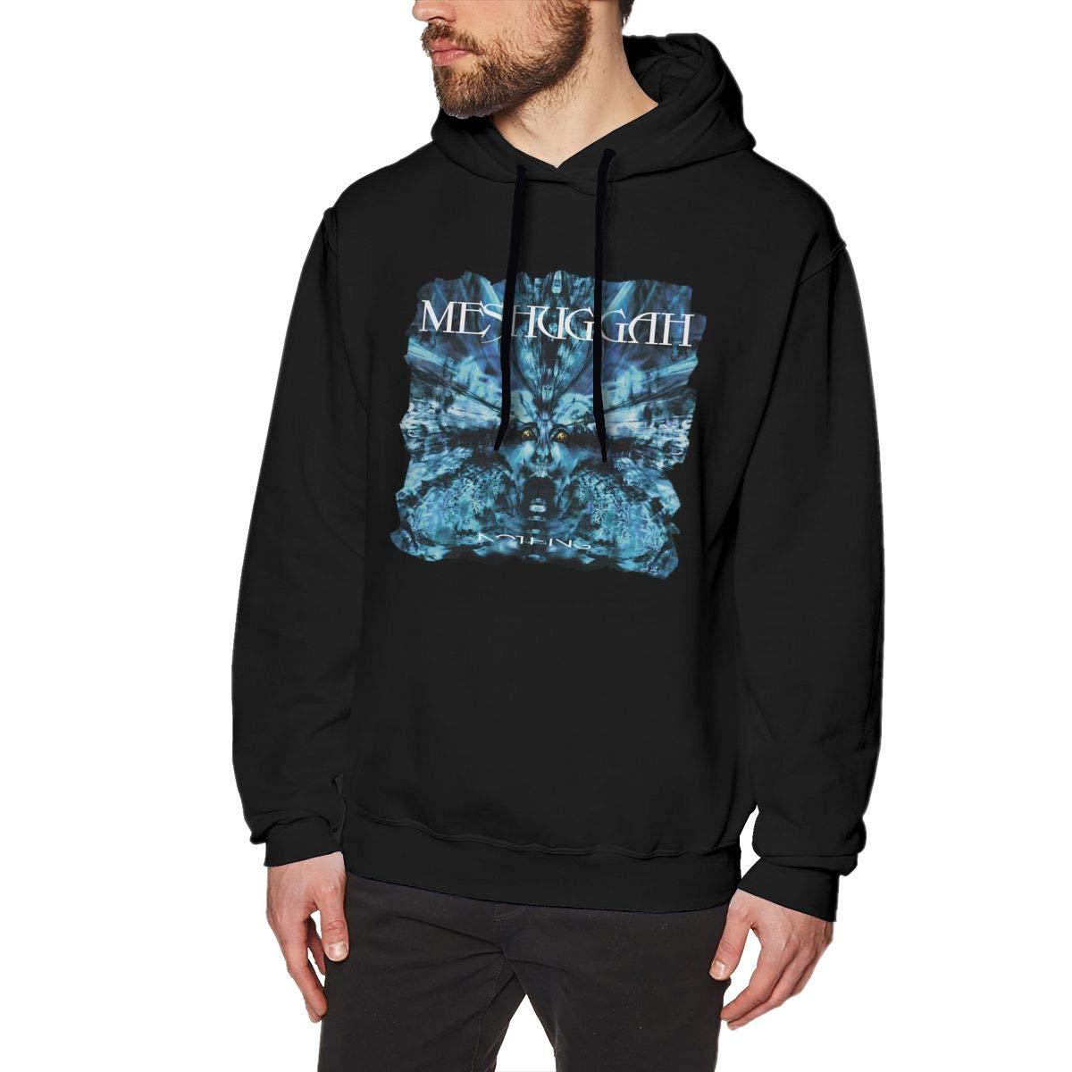 Evmjser Meshuggah Men's Fashion Long Sleeve Hooded Sweater Tops