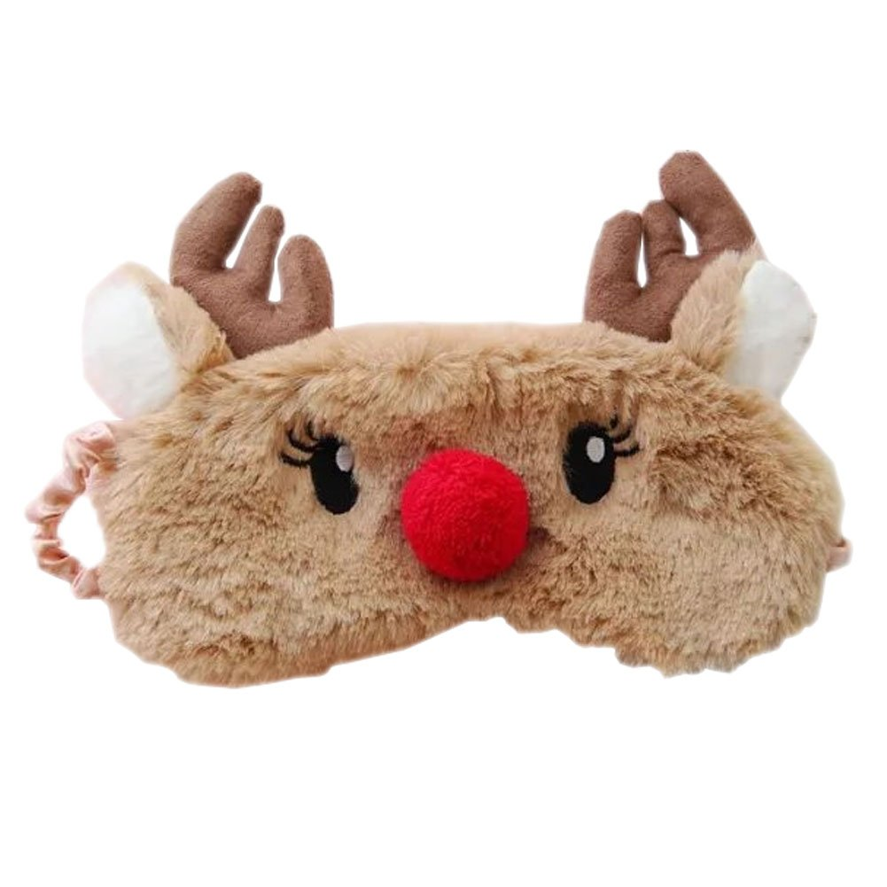 Toys & Hobbies Kid's Party Cute Animal Sleeping Eye Toy Mask Cartoon Blindfold Eye Christmas Deer Soft Cover Girl Kid Teen Traveling Toys For Children
