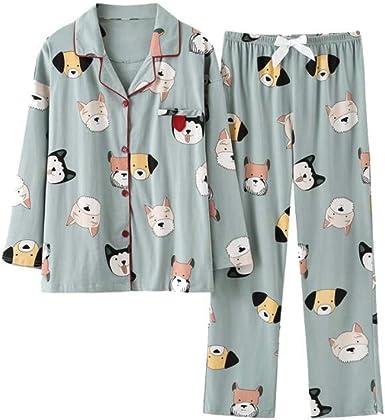 Pijamas japonesas Ropa de hogar de algodón de Manga Larga ...