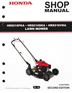Honda HRS216 PKA SKA VKA Mower Service Repair Shop Manual