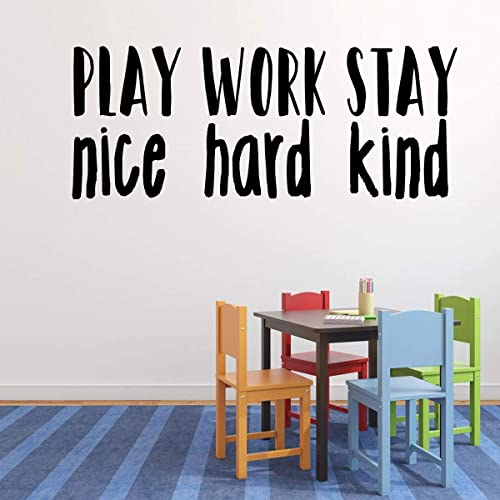 Amazon Com Play Nice Vinyl Wall Decal Mural For The Play Room