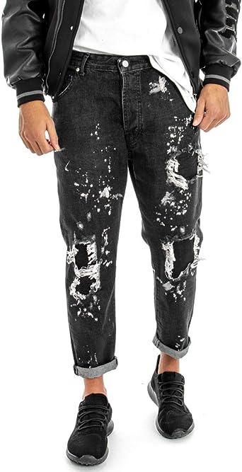 Pantalones Vaqueros De Moda Color Negro Para Hombre