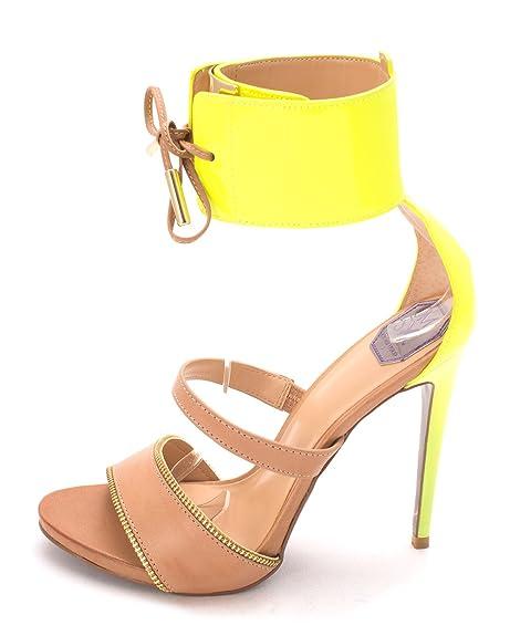 Donald J Pliner Womens SESE3535 Open Toe Ankle Strap Dorsay Tan Size 8.0