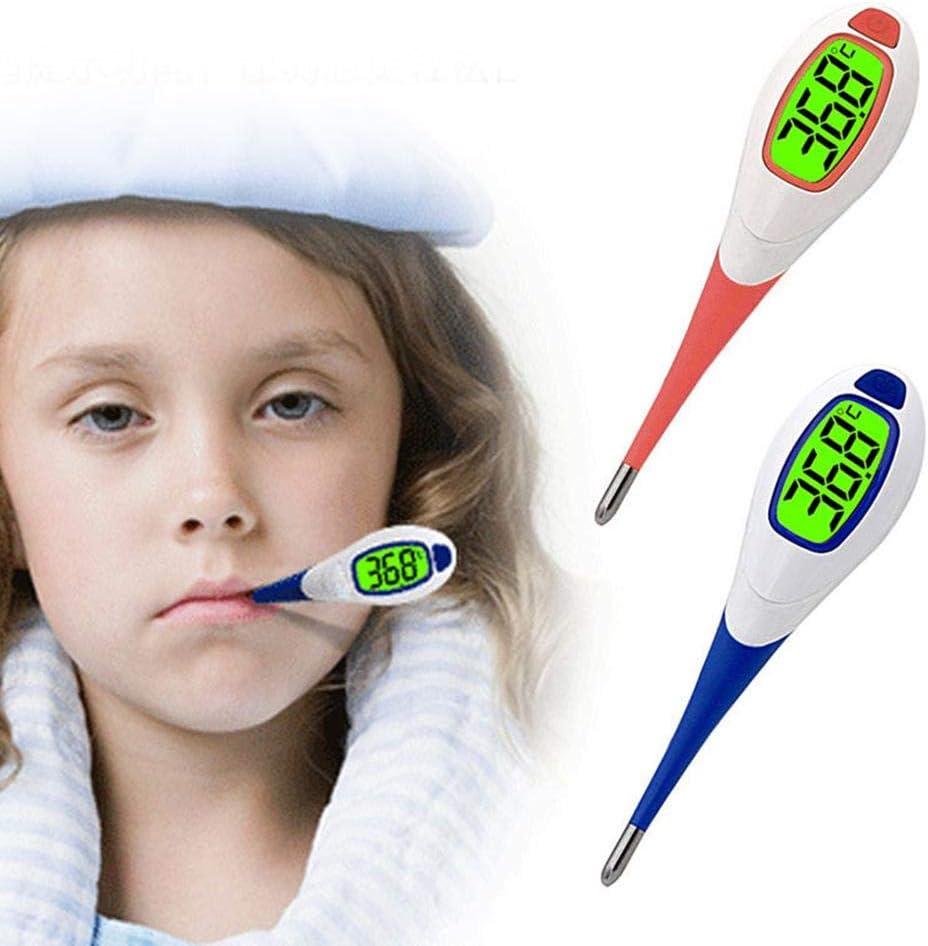 Funci/ón De Alerta De Fiebre Cabezal Suave Term/ómetro De Alarma Oral 10 Segundos De Lectura para Beb/és Adultos Joojun Term/ómetro Digital