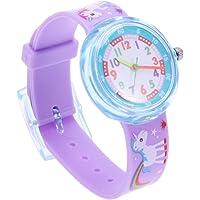 Hemobllo Reloj para niños Lindo Unicornio de Dibujos