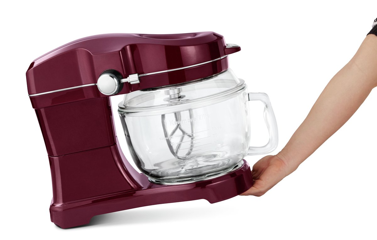 Kenmore Elite Ovation 49083 Exclusive Pour-In Top, 5-Qt. Tilt-Head Kitchen Stand Mixer, Red Burgundy by Kenmore (Image #9)