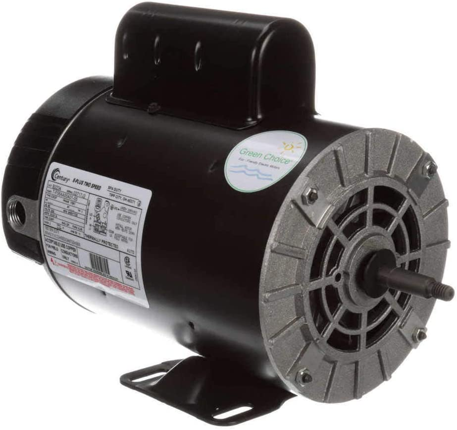 Century 2, 1/4 HP Pool and Spa Pump Motor, Capacitor-Start, 3450/1725 Nameplate RPM, 230 Voltage, 56Y Frame - B2234