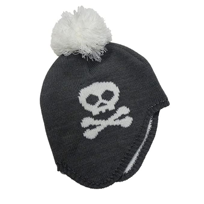 84efbc4655a4e Image Unavailable. Image not available for. Color  Ben Berger Boys Gray  Skull Stocking Cap Beanie Trapper Hat