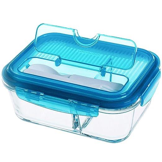 Lunch Box, Cristal, Resistente al Calor Compartimento Caja ...