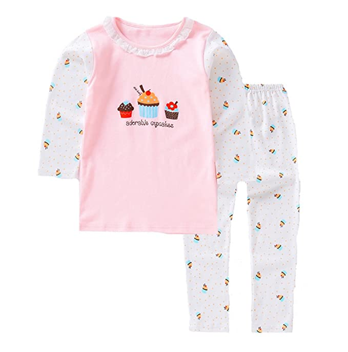 657e3e529 Amazon.com  HAXICO Little Kids Girls Cartoon Pajamas Sets 100 ...
