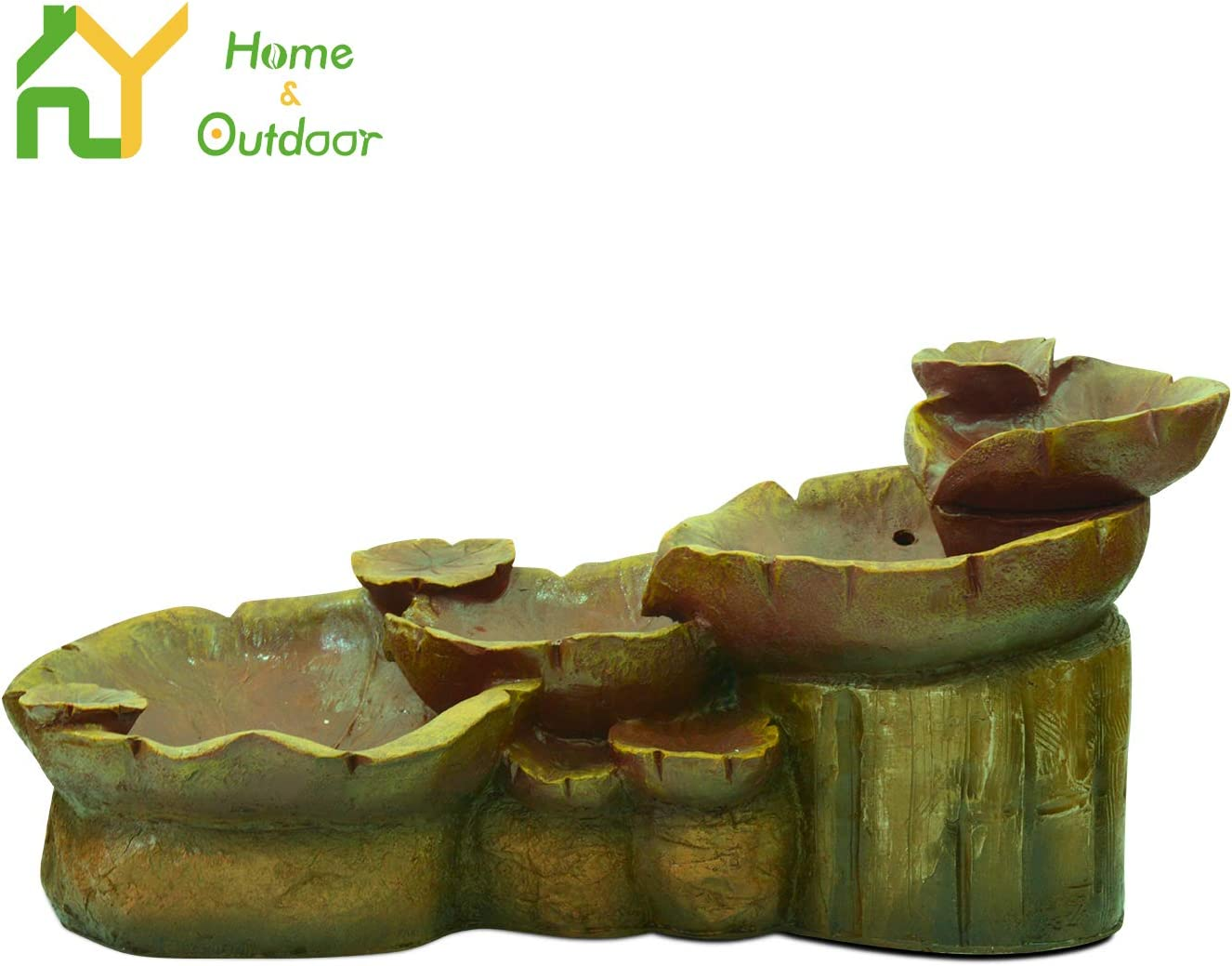 Indoor Oudoor Waterfall Feature with LED Lights /& Pump Decorative Fountain for Stress Relief S.Y Water Fountain Cascading Resin-Rock Tabletop Fountain 38 x 19 x 18 inches