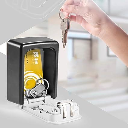 sinbide® Caja fuerte Llave Candado Fuerte con Cerradura de combinación Llave para exterior caja fuerte