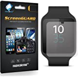 3 x Membrane Screen Protectors for Sony Smartwatch 3 (SWR50) - Crystal Clear (Glossy), Retail Package, Installation Kit