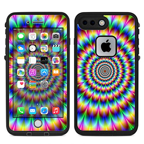 - Skin Decal Vinyl Wrap for Lifeproof iPhone 7 Plus Fre Case Stickers Skins Cover / Trippy hologram dizzy
