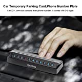 Car Temporary Parking Card Phone Number Plate
