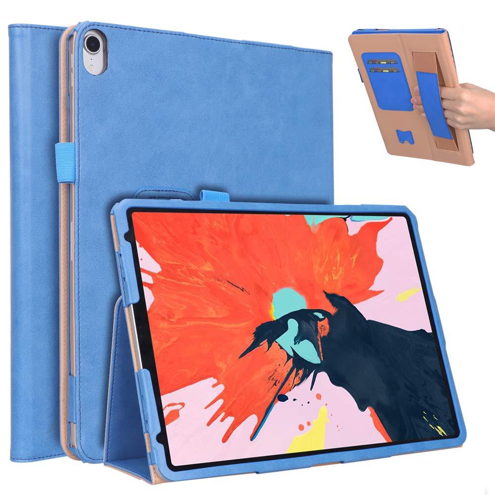 【メーカー公式ショップ】 Scheam B07KTQYRXX - iPad Pro 11インチ 2018年 - 保護用バックシェルフォリオレザーケース/カバー -/バンパー/スキン/クッション - ファッションアートコレクション (ブラウン), ブルー, 1542-JW-440 ブルー B07KTQYRXX, ナイエチョウ:60afbda9 --- a0267596.xsph.ru