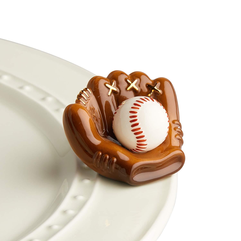 Nora Fleming Mini - Baseball mitt - Hand-Painted Ceramic Charm - A217