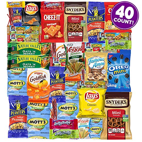 Kids Choice Variety Pack - Sweet Choice (40 Count) Ultimate Sampler Mixed Bars, Cookies, Chips, Candy Snacks Box for Office, Meetings, Schools,Friends & Family, Military,College, Halloween , Snack Variety Pack