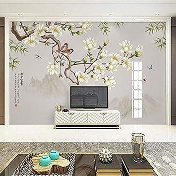 Tantoto Fototapete 3D 3D Moderne Neue Chinesische Blume Und ...