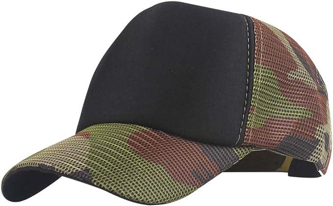 DEELIN Sombrero para Las Mujeres Hombres Camuflaje Bordado Flor ...
