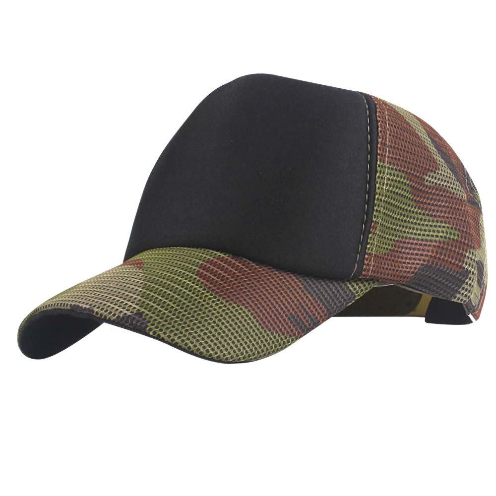 Sunyastor Summer Cap Camouflage Mesh Hats for Men Women Casual Hats Hip Hop High Bun Ponytail Adjustable Baseball Caps (A1, One Size)