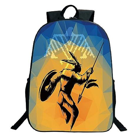 Amazon.com: 3D Print Design Black School Bag,backpacksNative ...